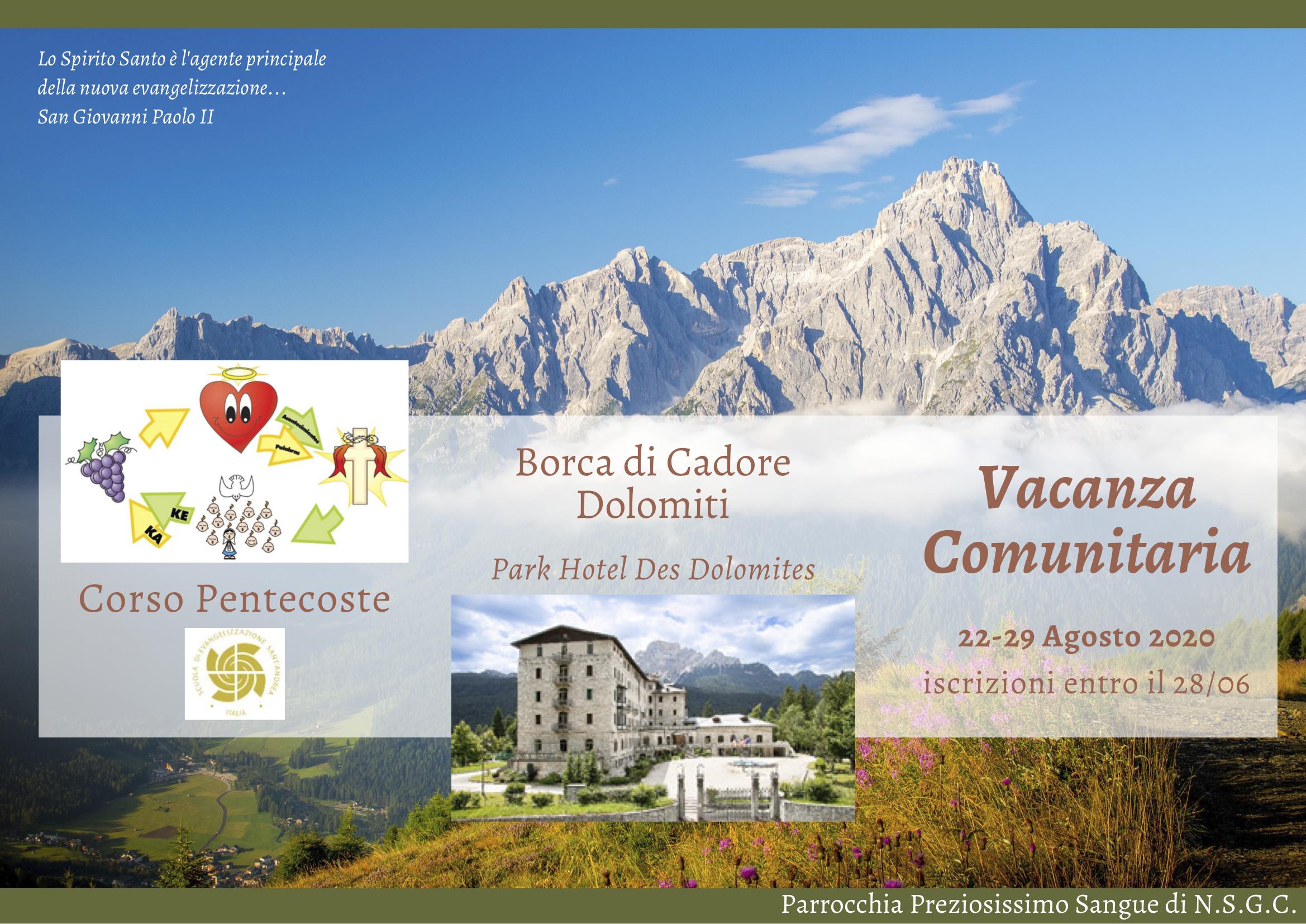 Vacanza Comunitaria - Corso Pentecoste - 22-29 Agosto